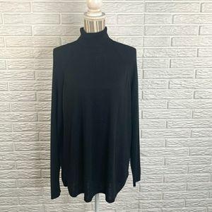 Apt 9 Black Knit Turtleneck Sweater soft